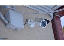 Монтаж комплекта 6-х камер для большого частного сектора