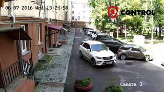 Пример записи - IP камера Hikvision 2 МП во дворе