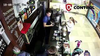 Пример записи - IP камера Hikvision 2 МП в кафе