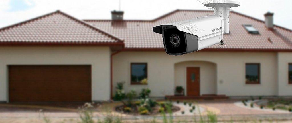Как защитить камеры от паутины и насекомых?